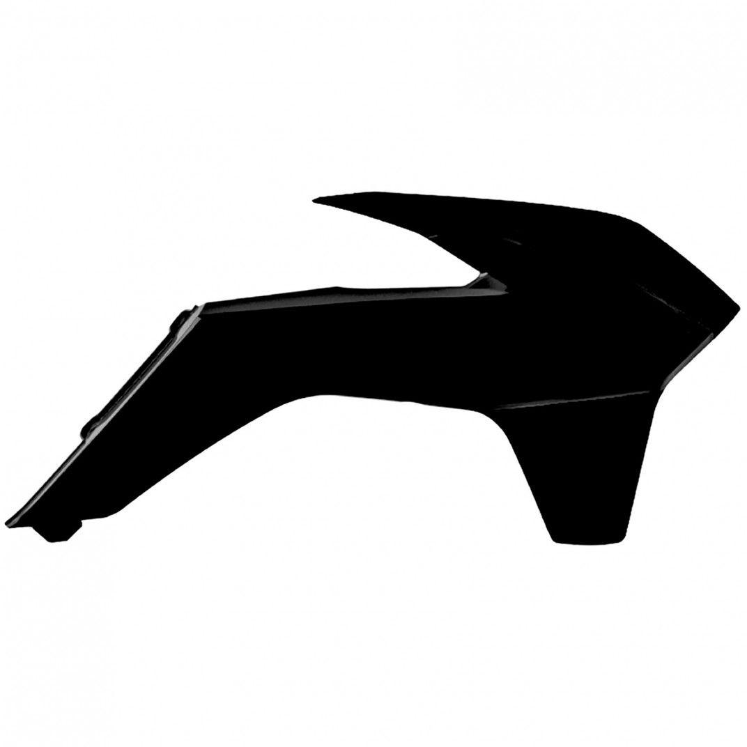 KTM EXC,EXC-F,XC-W,XCF-W - Caches de Radiateur Noir - Modèles 2014-16