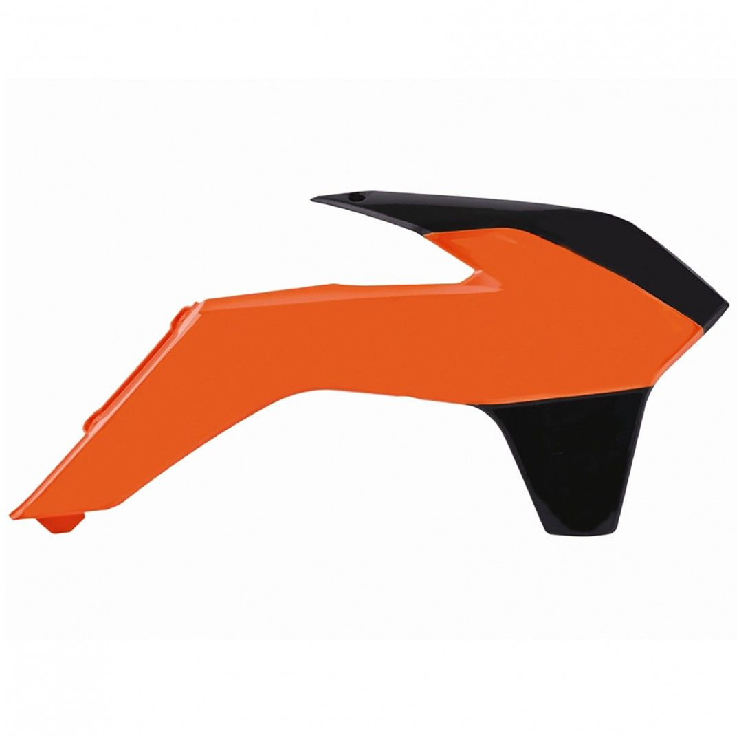 KTM SX,SX-F,XC-F,150 XC,200 XC - Radiator Scoops Orange,Black - 2013-15 Models