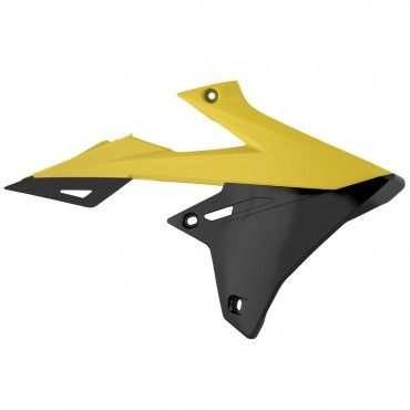 Suzuki RMZ450 - Radiator Scoops Yellow,Black - 2018-20 Models