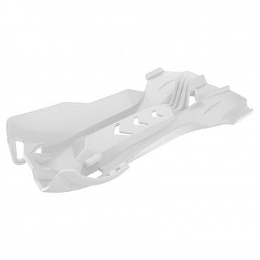 KTM 250 SX,250 EXC,300 EXC - Fortress Skid Plate White - 2006-16 Models