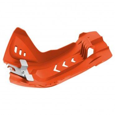 KTM 250 EXC-F,350 EXC-F - Fortress Skid Plate Orange - 2017-19 Models