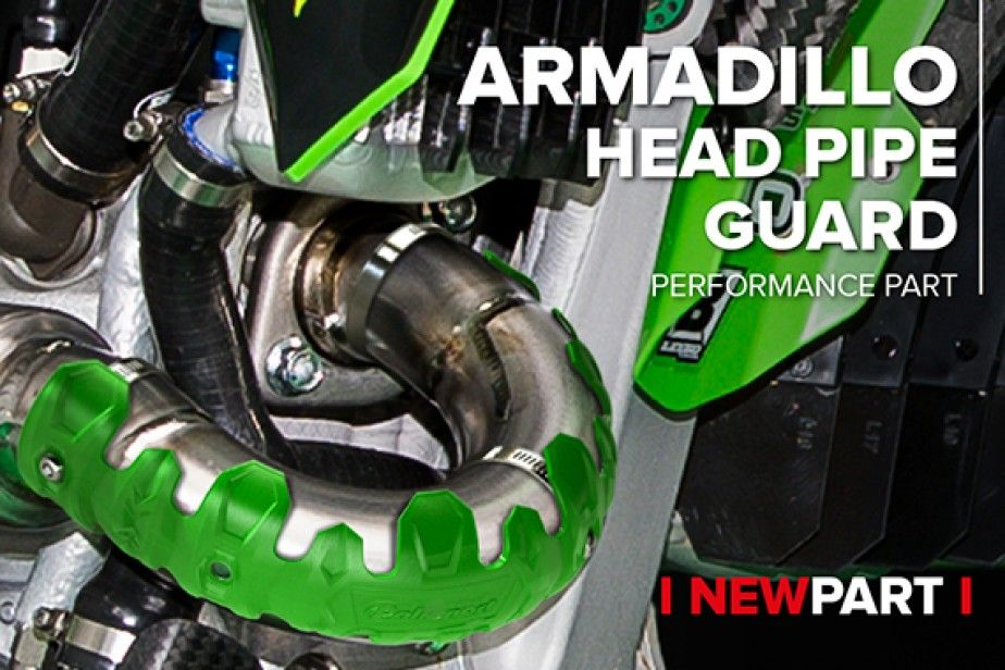New Armadillo Head Pipe Guard for 4-Strokes