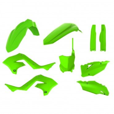 Kawasaki KX 125, 250 - MX Restyling Kit Lime Green - 2003-08 Models