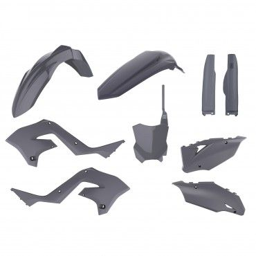 Kawasaki KX 125, 250 - MX Restyling Kit Nardo Grey - 2003-08 Models