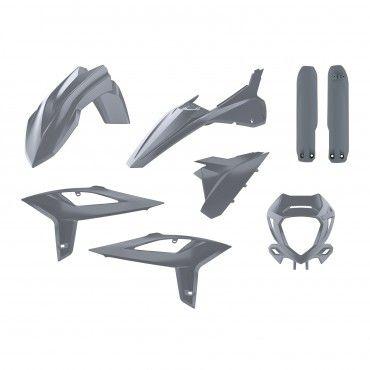 Beta RR 2T/4T - Enduro Replica Kunststoff-Kit Nardo Grey - Modelle 2020