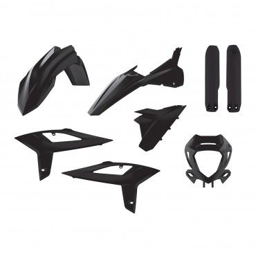 Beta RR 2T/4T  - Enduro Plastic Kit Black - 2020 Models
