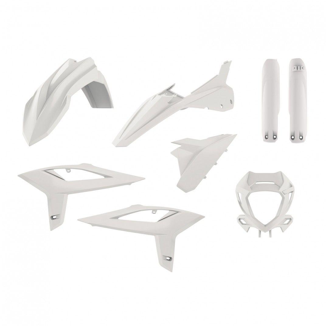 Beta RR 2T/4T -  Kit de Plástica Enduro Blanco - Modelos 2020