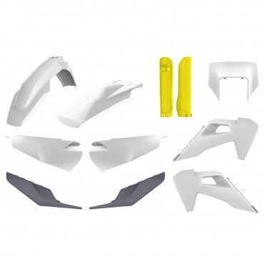Husqvarna TE/FE - MX Plastic Kit White - 2020 Models