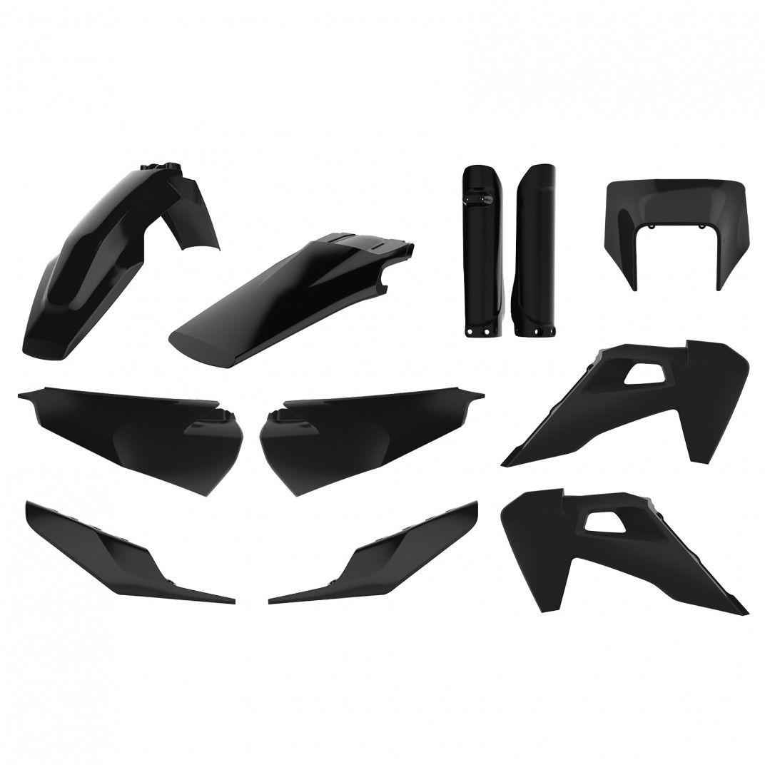 Husqvarna TE/FE - Kit de Plásticos Preto - Modelos 2020