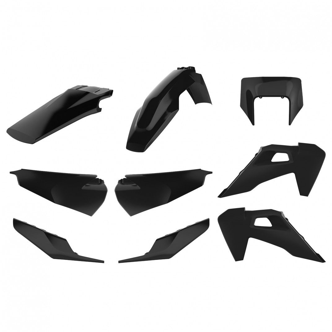 Husqvarna TE,FE - Kit Enduro Plastiche Replica Nero - Modelos 2020