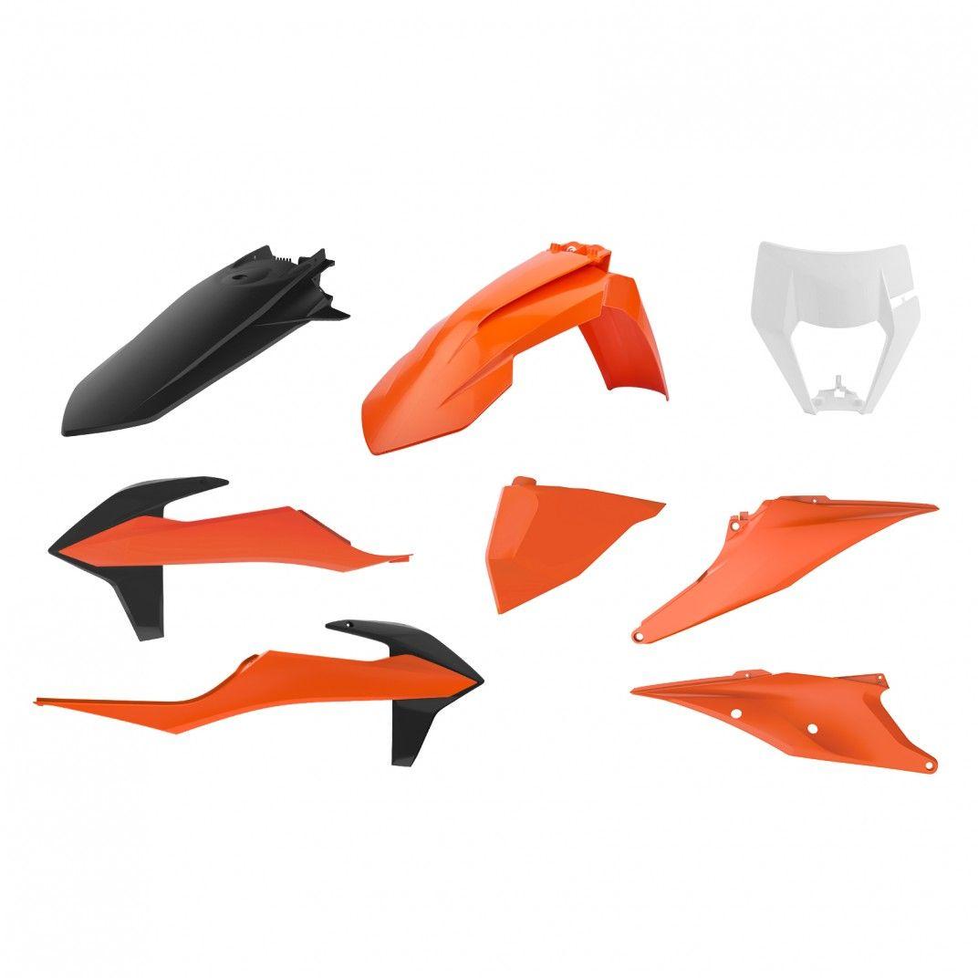 KTM EXC,EXC-F XC-W,XCF-W - Enduro Plastique Kit Couleur OEM - Modèles 2020