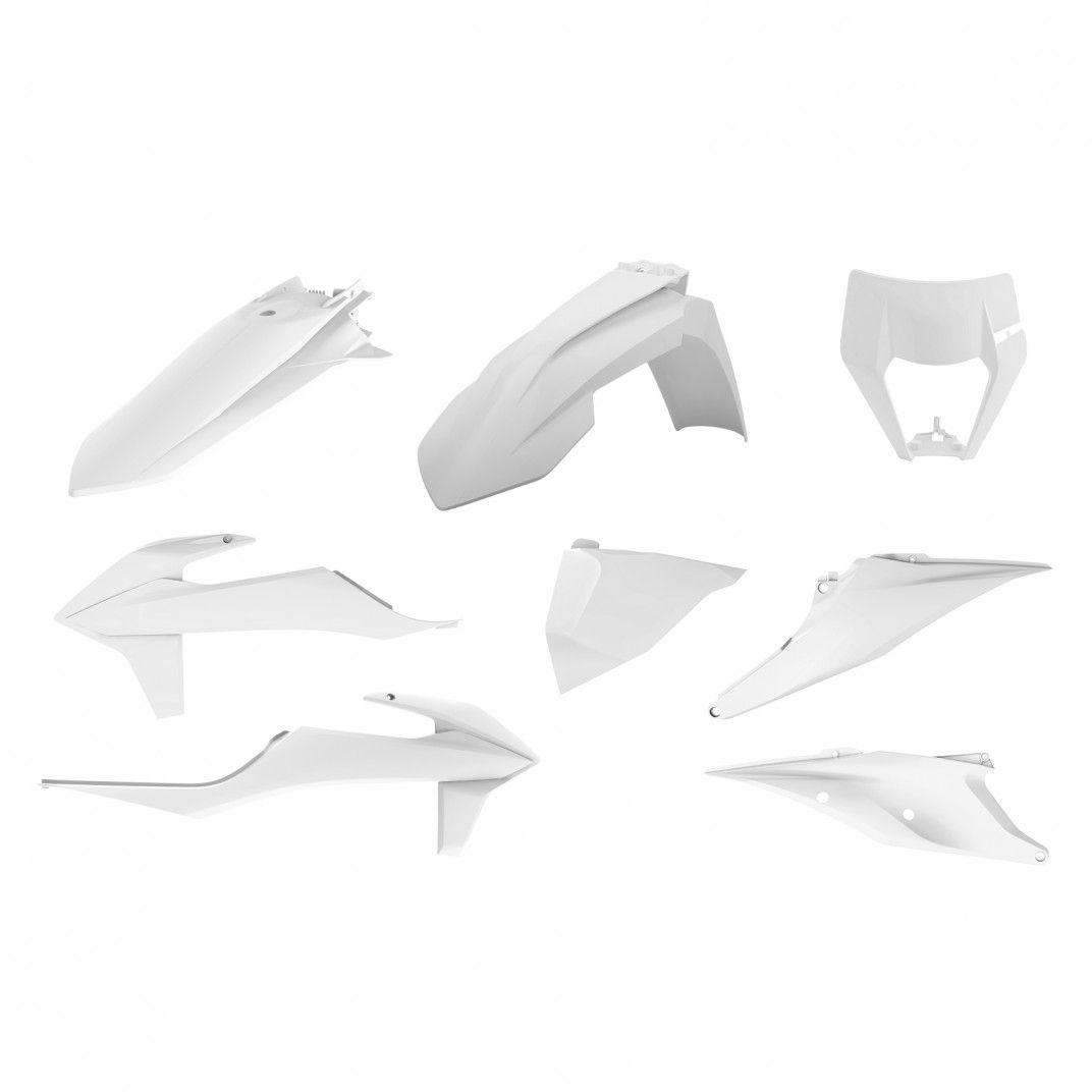 KTM EXC,EXC-F XC-W,XCF-W - Kit de Plásticos para Enduro Branco - Modelos 2020