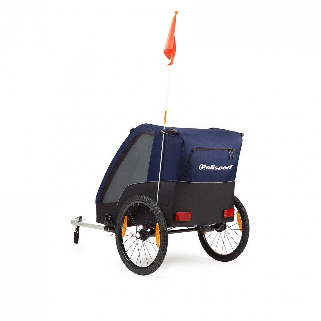 Polisport Trailer - Atrelado de Bicicleta e Carrinho de Transporte
