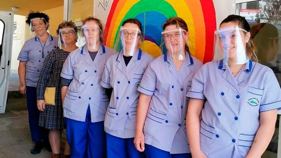 Polisport coopera na produção de viseiras protetoras para profissionais de saúde
