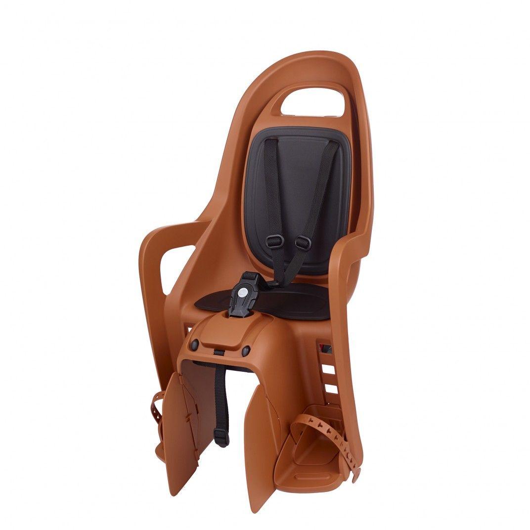 Groovy CFS - Cadeira para Bicicleta com Fixação ao Porta-Bagagem Castanha e Preta