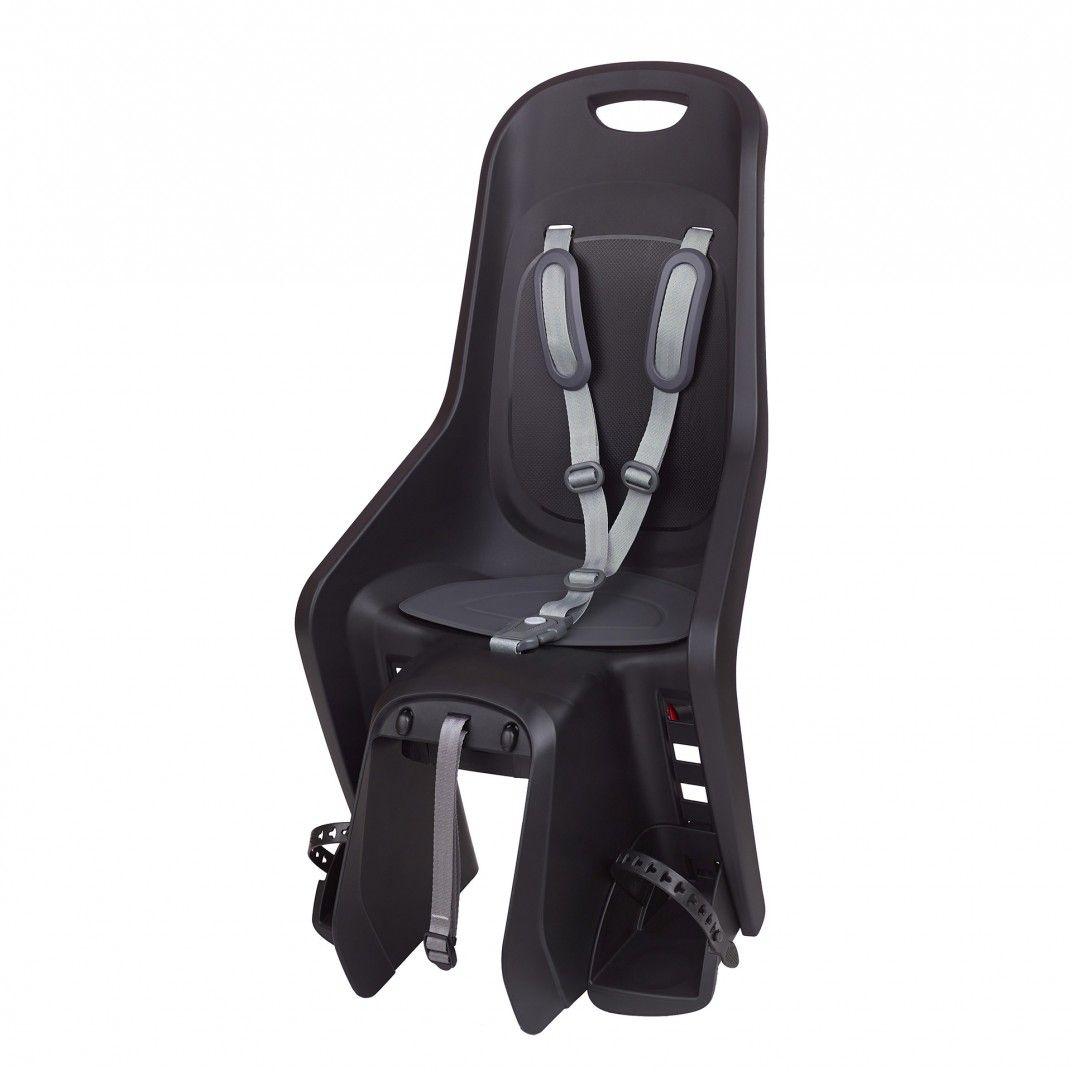 Bubbly Maxi Plus CFS - Fahrrad-Kindersitz Schwarz und Dunkelgrau für Gepäckträger