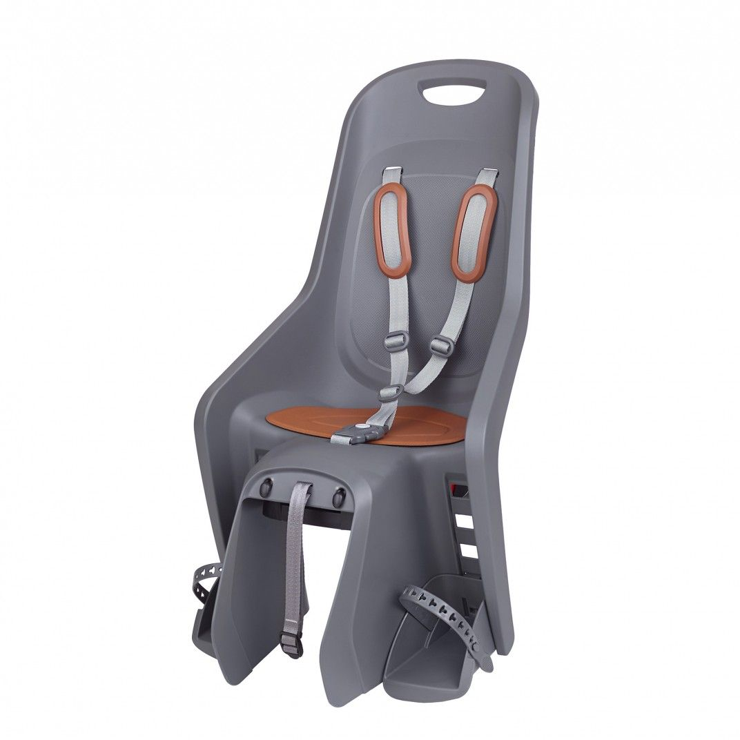 Bubbly Maxi Plus CFS - Child Bicycle Seat Grey and Brown for Carriers