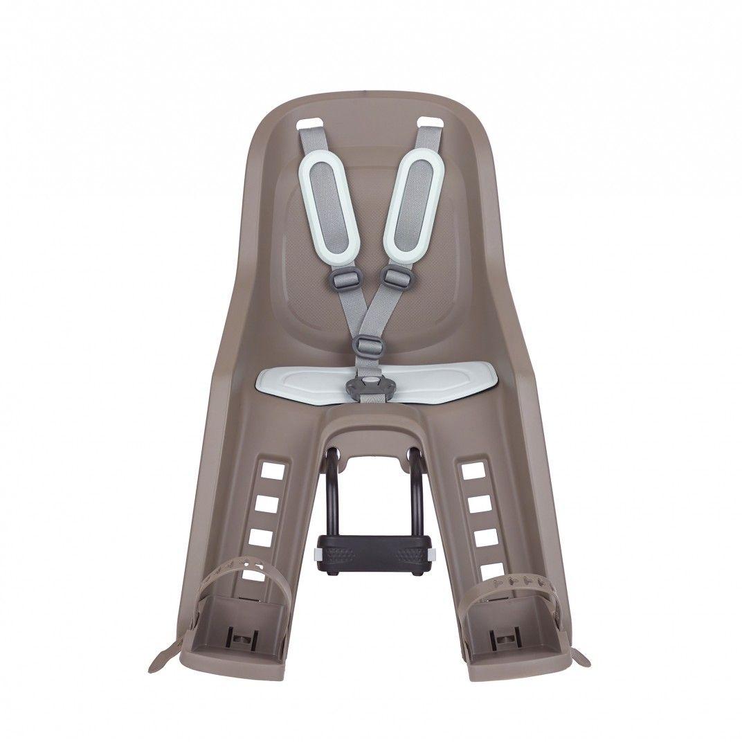 Bubbly Mini Plus Plus - Fahrrad-Kindersitz für Frontmontage Braun und Pastellgrün