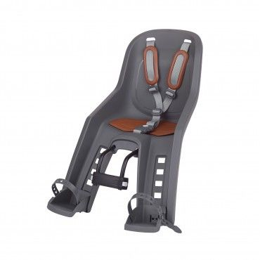 Bubbly Mini Plus - Child Bicycle Seat for Front Head Tube Grey and Brown