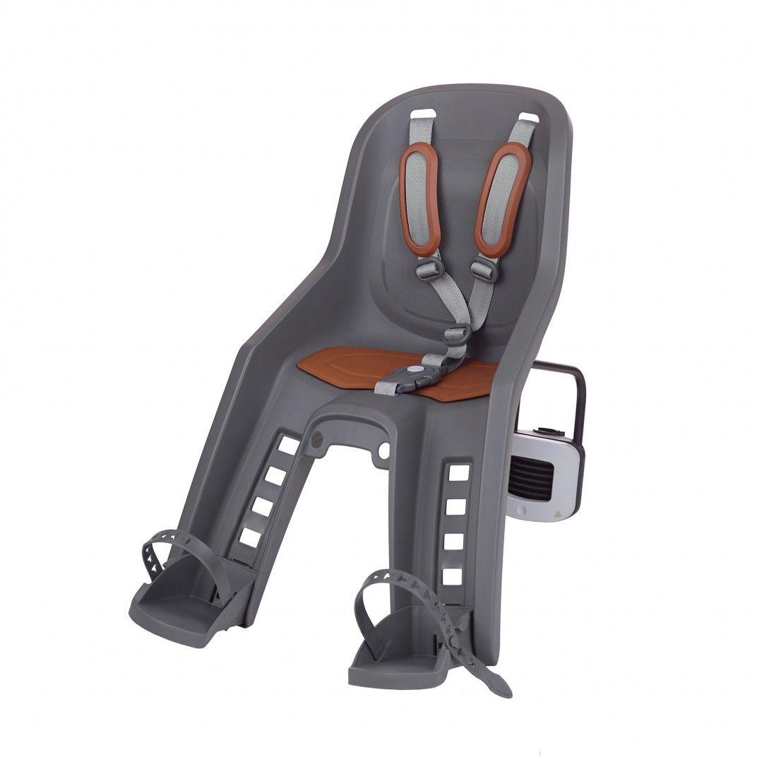 Bubbly Mini Plus FF - Cadeira para Bicicleta para Fixação ao Quadro Cinzenta e Castanha