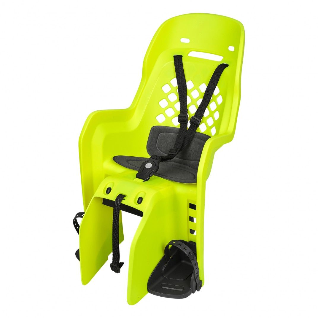 Joy CFS - Child Bicycle Seat for Carriers Yellow Fluo and Dark Grey