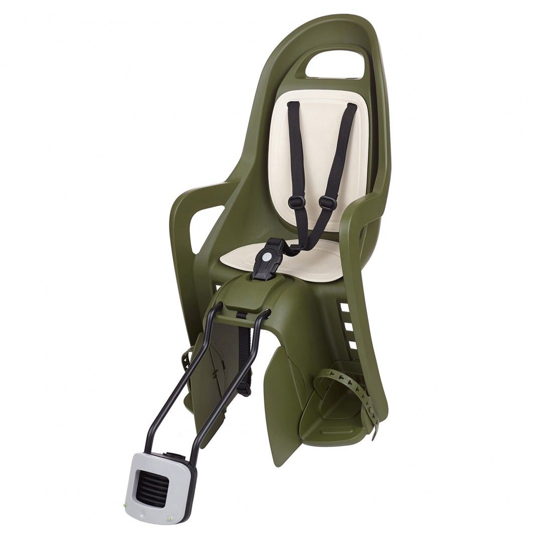 Groovy 29'' - Child Bike Seat Dark Green and Cream for Small Frames and 29ers