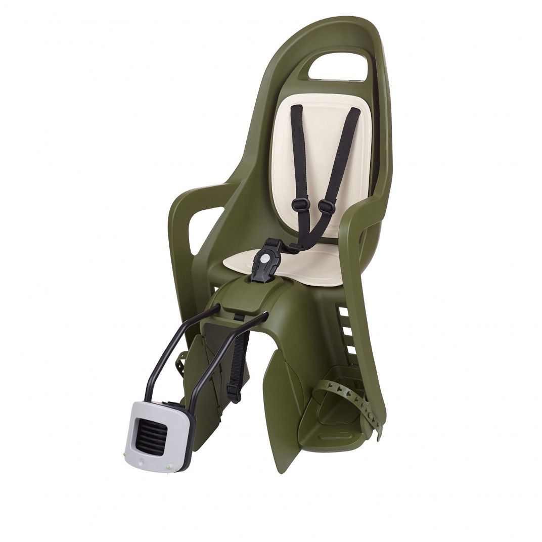 Groovy FF - Child Bike Seat for Frames Dark Green and Cream