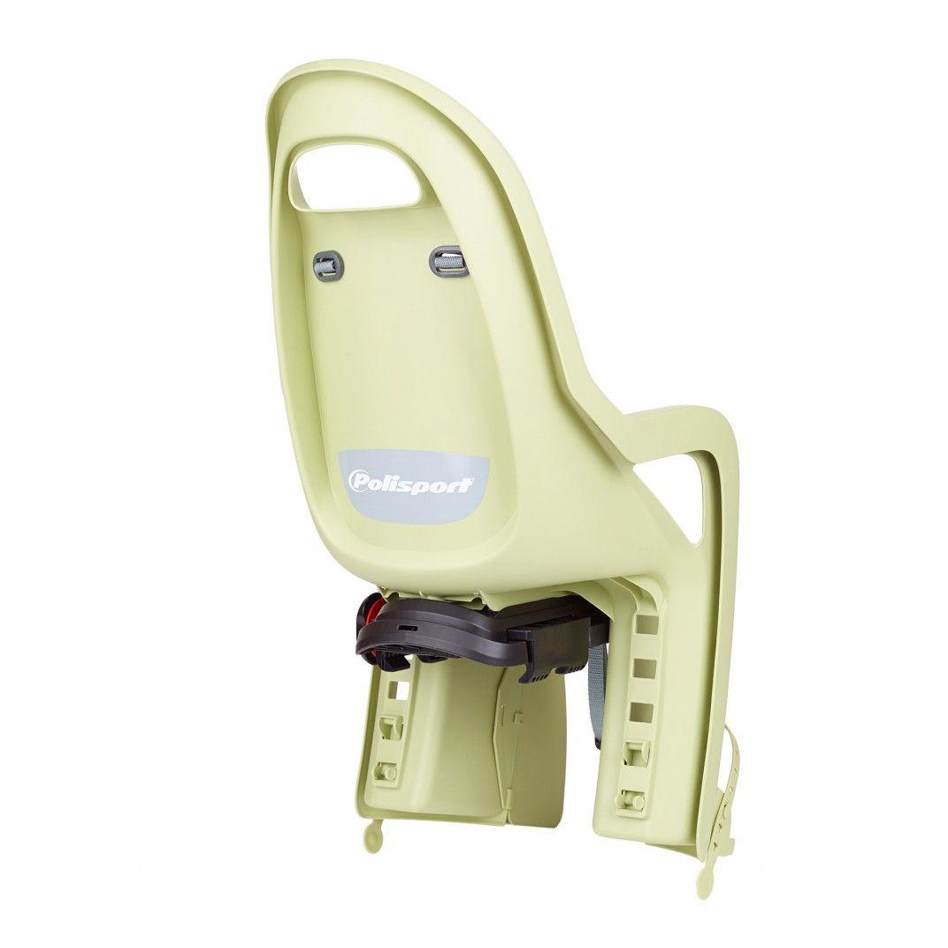 Groovy CFS - Siège de Vélo Vert Clair et Gris pour Fixation au Porte-bagages