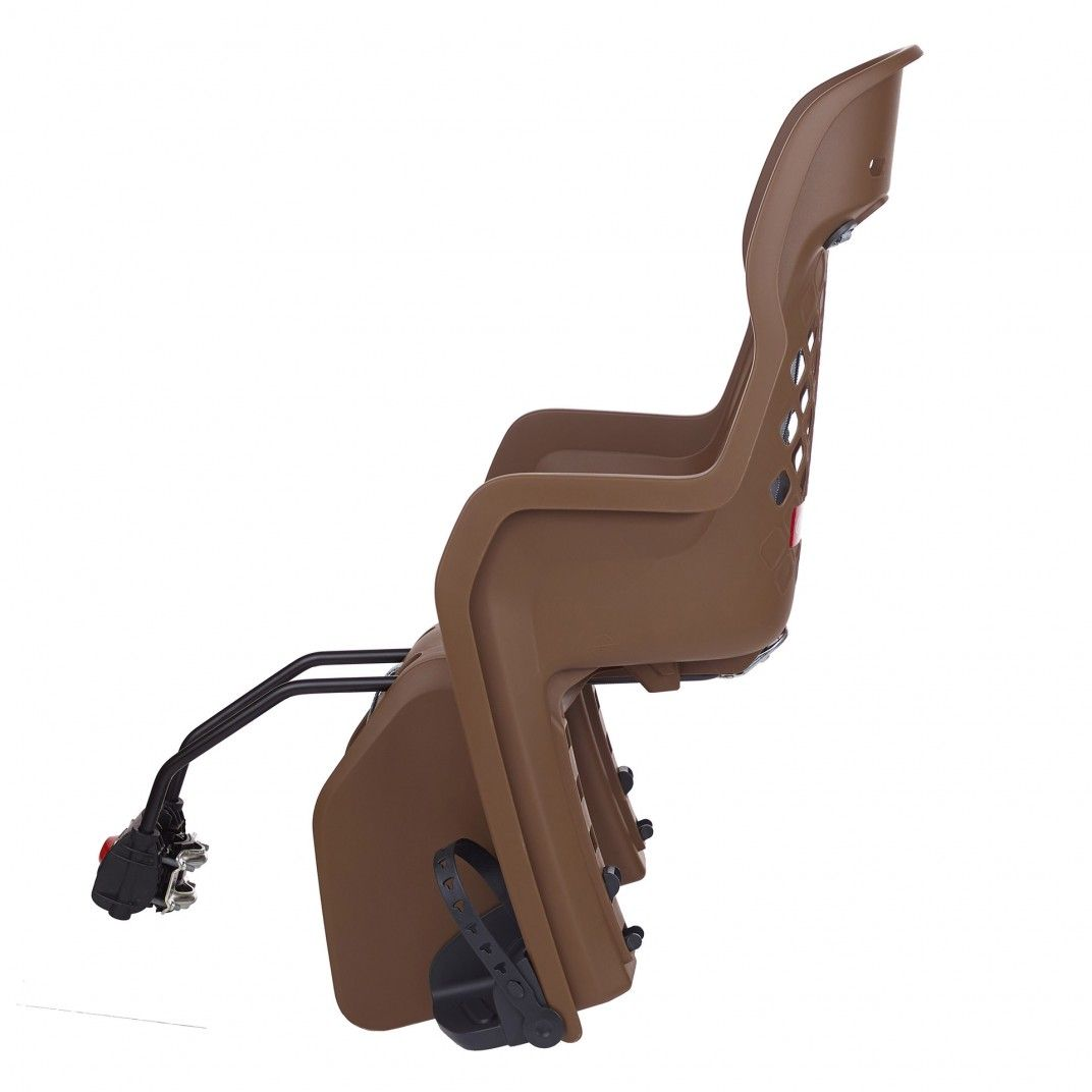 Joy FF - Child Bicycle Seat for Rear Child Seat Brown and Dark Grey