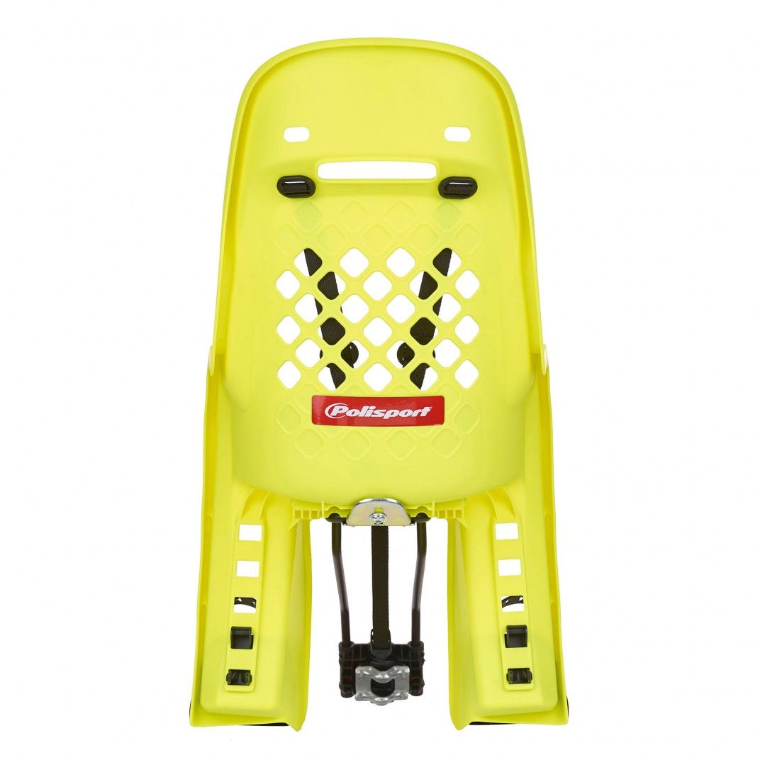 Joy 29'' - Child Bicycle Seat for Small Frames and 29Ers Yellow Fluo and Dark Grey