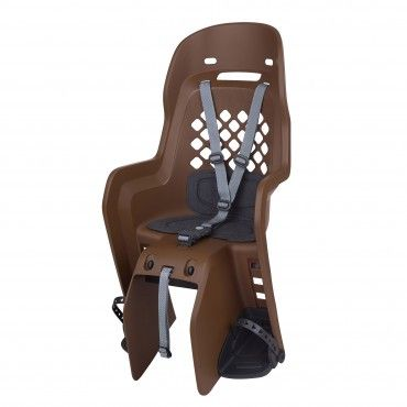 Joy CFS - Child Bicycle Seat for Carriers Brown and Dark Grey