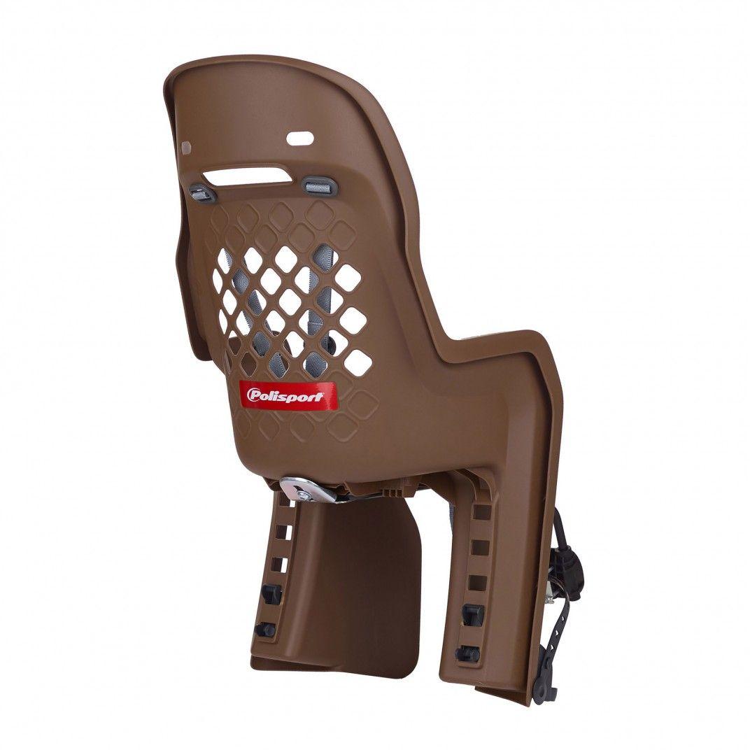 Joy FF - Cadeira para Bicicleta de Fixação ao Quadro Castanha e Cinzenta