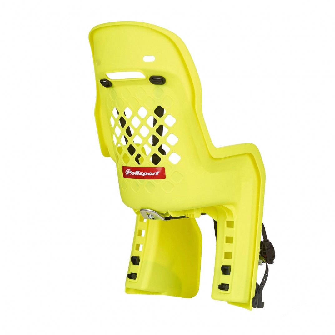 Joy FF - Child Bicycle Seat for Rear Child Seat Yellow Fluo and Dark Grey