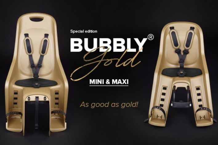New Child Bike Seat Bubbly Gold - Special Edition