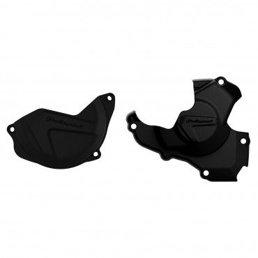 Honda CRF450R - Clutch and Ignition Cover Protector Kit Black Black -2016-17 Models