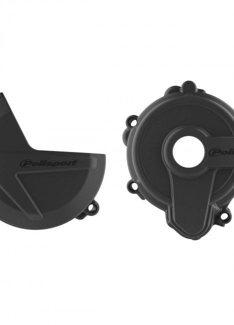 Sherco SE250/300 - Clutch and Ignition Cover Protector Kit Black Black - 2014-21 Models