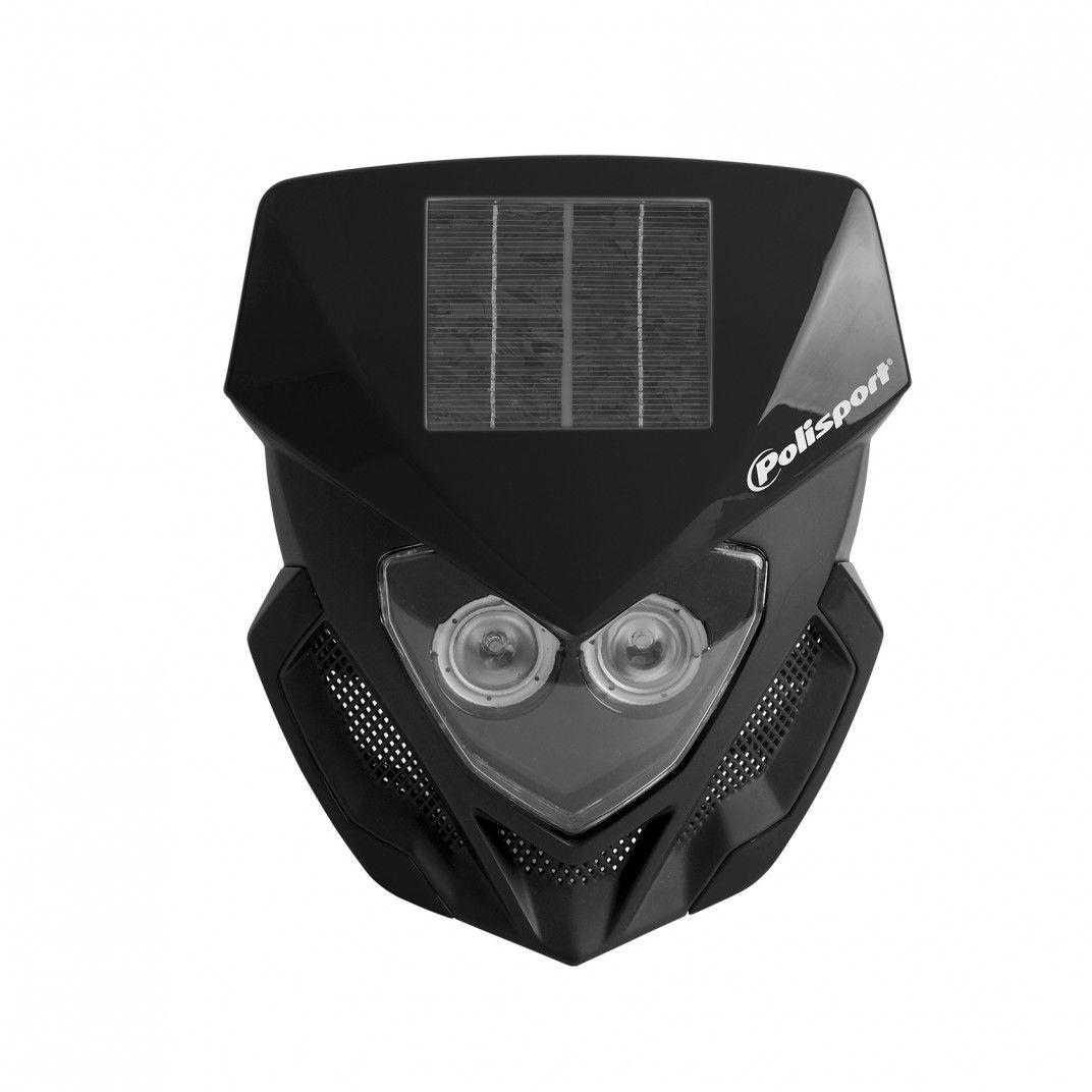 Lookos Evo - Phare Noir avec Panneau Solaire et Batterie