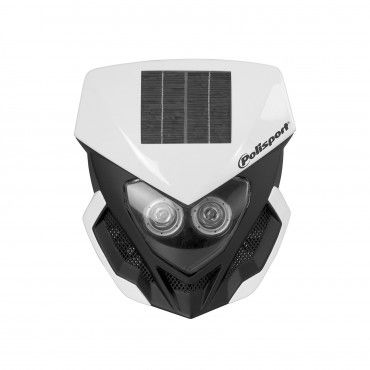 Lookos Evo - Headlight White and Black with Solar Panel and Battery