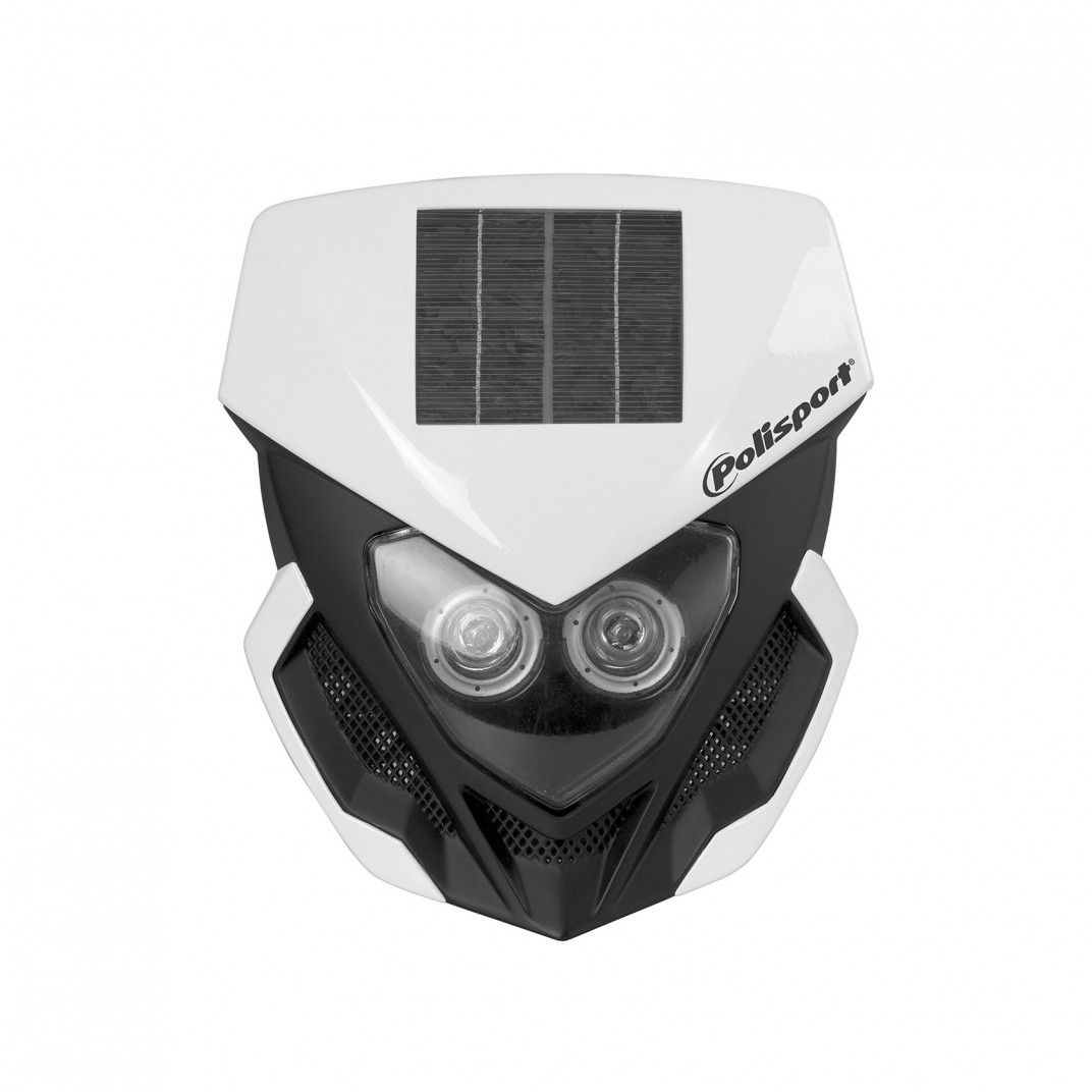 Lookos Evo - Porta-Farol Branco e Preto com Luz Solar e Bateria Incorporada