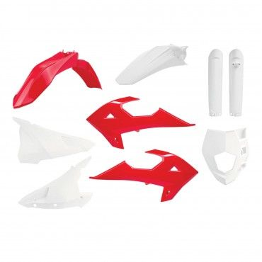 Rieju MR250/300 - Enduro Plastic Kit Red and White - 2021 Models
