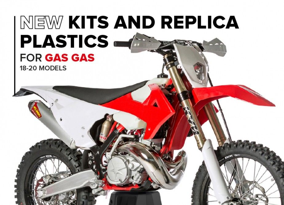 New Kits and Replica Plastics for Gas Gas 2018-20 Models