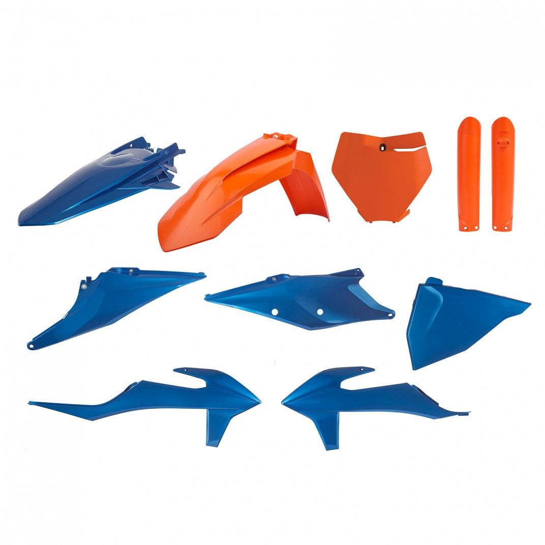 KTM SX,SX-F/XC,XC-F - MX Plastic Kit Blue Metal Flow - 2019-21 Models