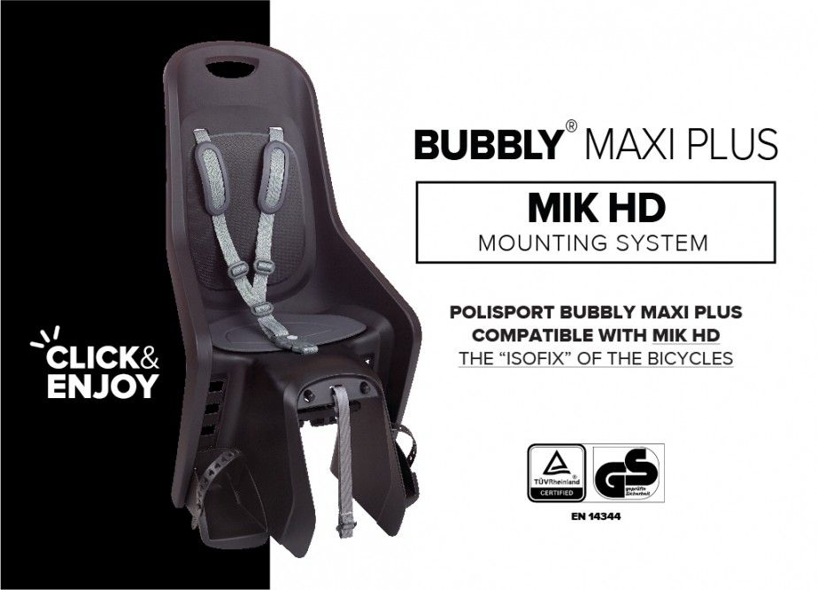 New Bubbly Maxi Plus Child Bike Seat with MIK HD
