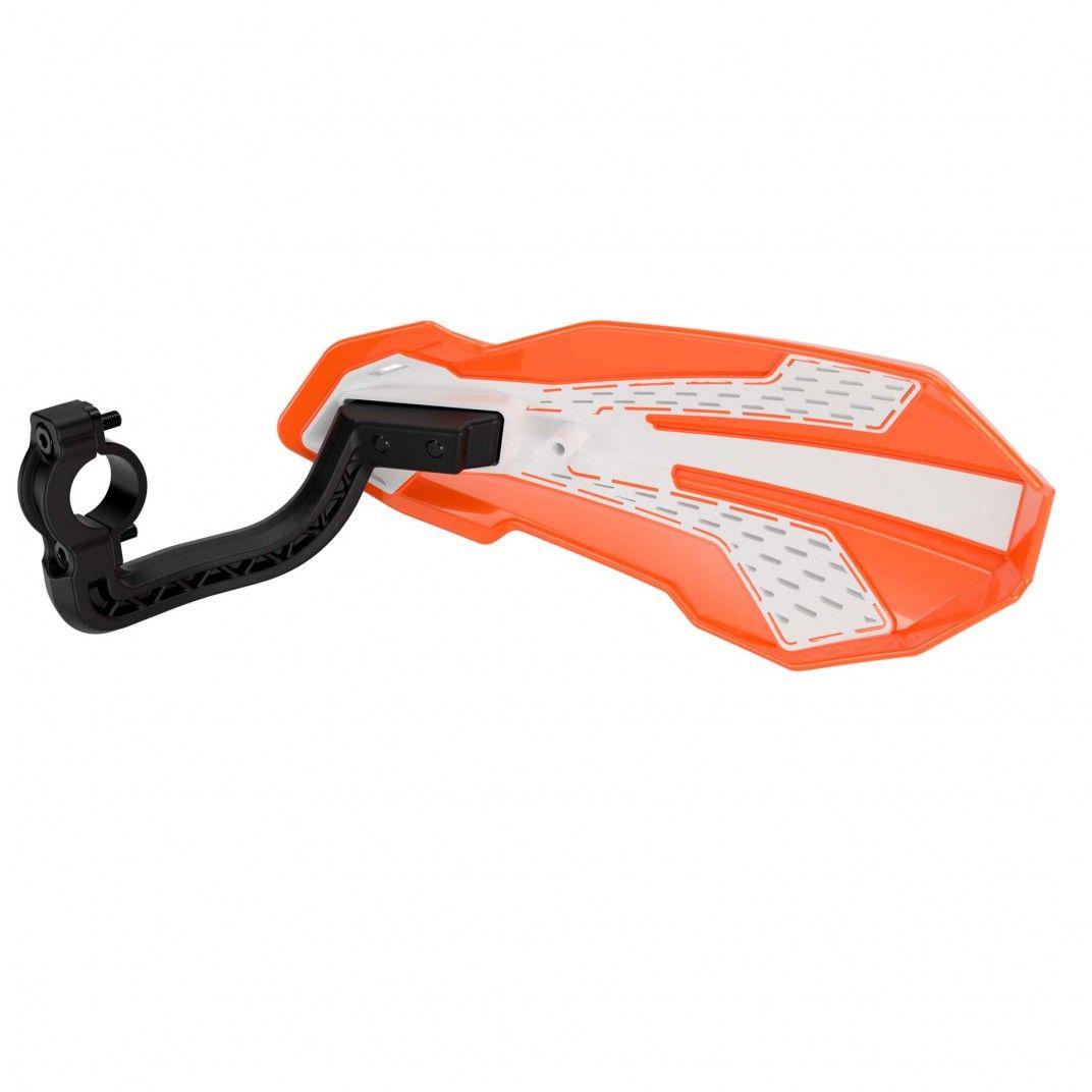 Handprotektoren MX FLOW - KTM SX/EXC Modelli 2014-2022  - Orange und Weiß