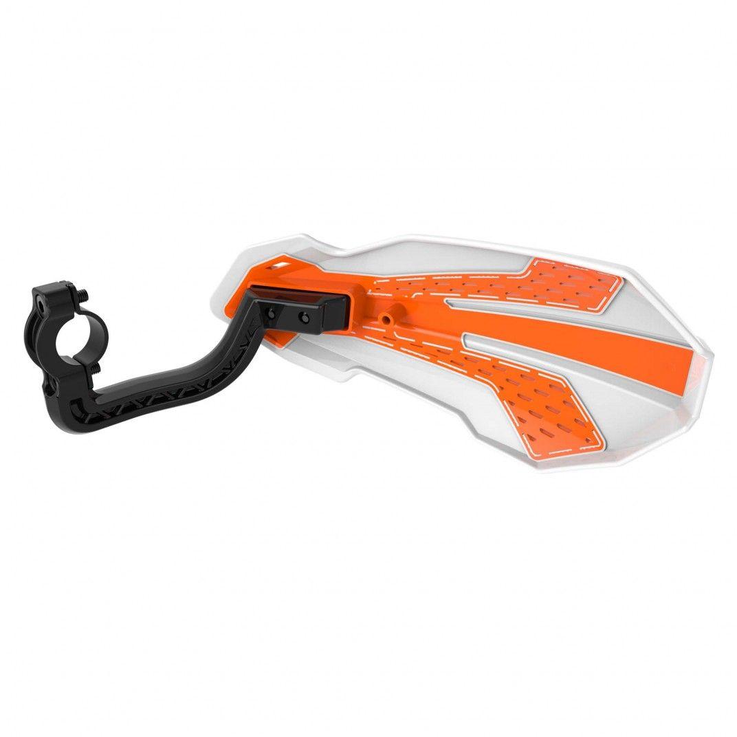 Handprotektoren MX FLOW - KTM SX/EXC Modelli 2014-2022  - Weiß und Orange